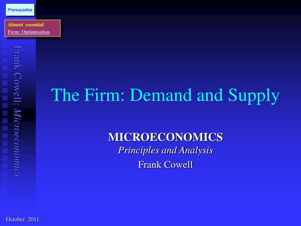 the firm demand and supply l.