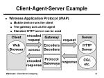 client agent server example