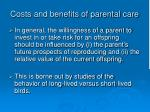 costs and benefits of parental care18