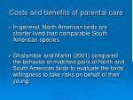 costs and benefits of parental care20