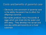 costs and benefits of parental care5