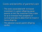 costs and benefits of parental care9