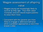 magpie assessment of offspring value