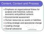 content context and process