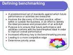defining benchmarking