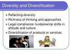 diversity and diversification