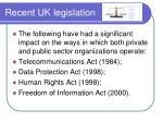 recent uk legislation
