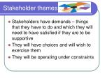 stakeholder themes