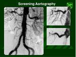 screening aortography