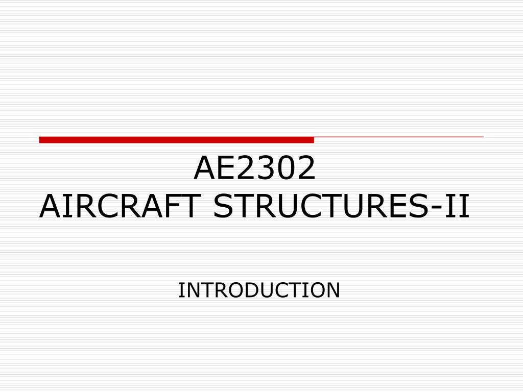 ae2302 aircraft structures ii l.