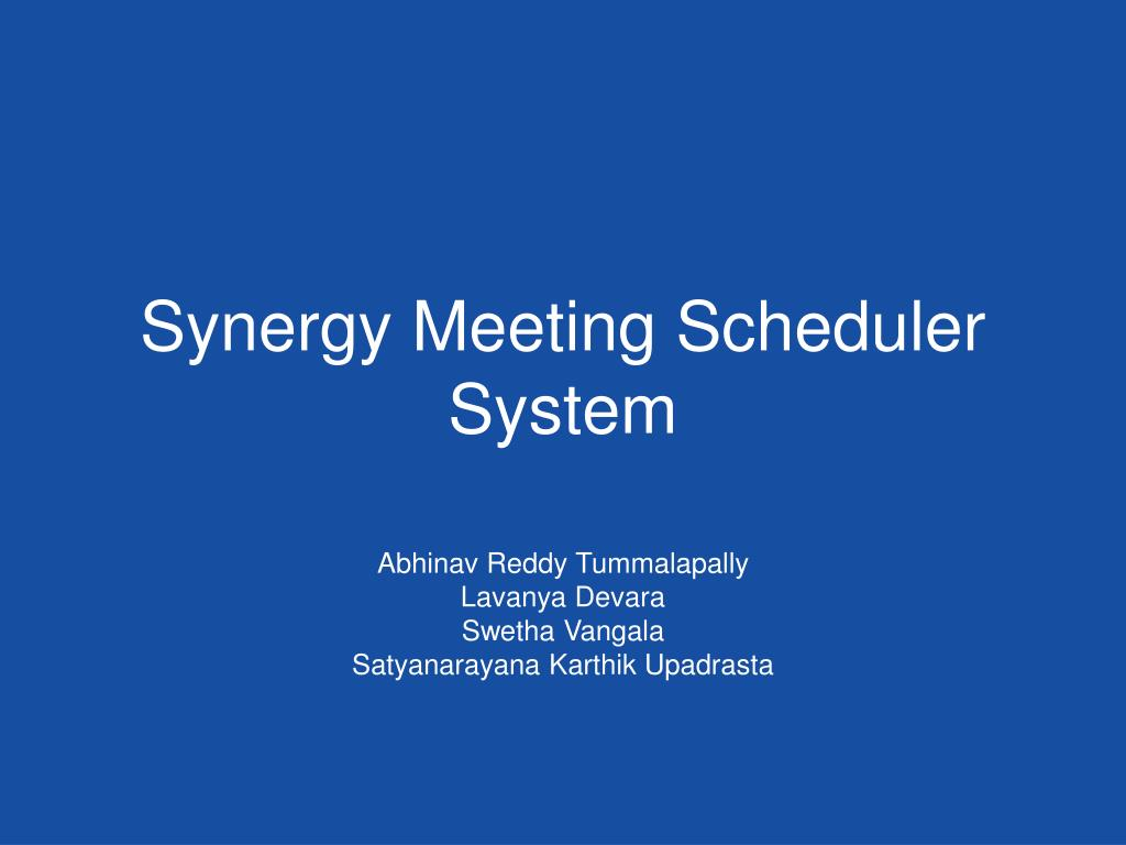 synergy meeting scheduler system l.