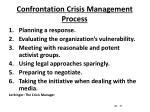 confrontation crisis management process