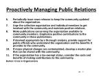 proactively managing public relations7