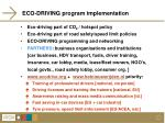 eco driving program implementation