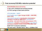 fuel economy co2 nox reduction potential