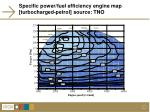 specific power fuel efficiency engine map turbocharged petrol source tno