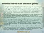 modified internal rate of return mirr