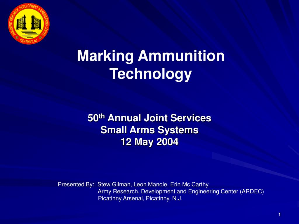 50 th annual joint services small arms systems 12 may 2004 l.