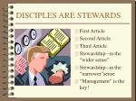 disciples are stewards