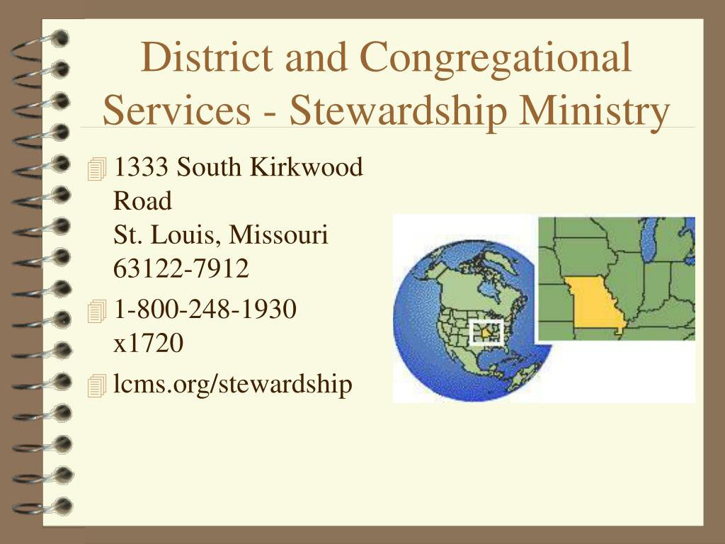 district and congregational services stewardship ministry l.