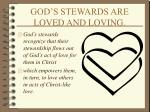 god s stewards are loved and loving