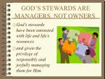 god s stewards are managers not owners