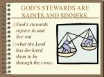 god s stewards are saints and sinners
