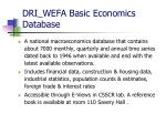 dri wefa basic economics database