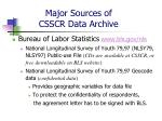 major sources of csscr data archive7