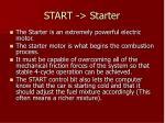 start starter