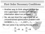 first order necessary conditions2