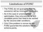 limitations of fonc