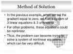 method of solution