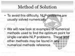 method of solution1