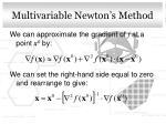 multivariable newton s method