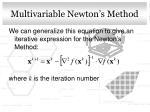 multivariable newton s method1