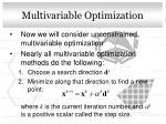 multivariable optimization