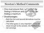 newton s method comments