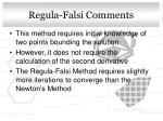 regula falsi comments