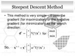 steepest descent method