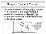 steepest descent method1