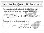 step size for quadratic functions1