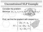 unconstrained nlp example