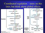 coordinated regulation more on this later but think about global effects