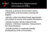 performance improvement environment pie