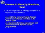 answers to warm up questions cont35