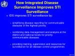 how integrated disease surveillance improves sti surveillance14