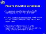 passive and active surveillance