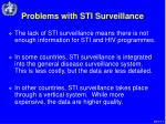 problems with sti surveillance