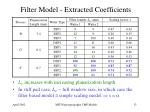 filter model extracted coefficients